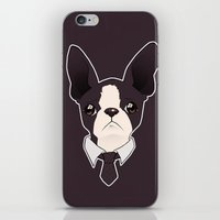 boston terrier iPhone & iPod Skins featuring Boston Terrier by brit eddy