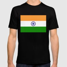 National flag of India - Authentic version to scale and color MEDIUM Mens Fitted Tee Black