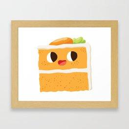 Baby Cakes - Carrot Cake Framed Art Print