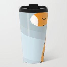 Orange And Blue Metal Travel Mug