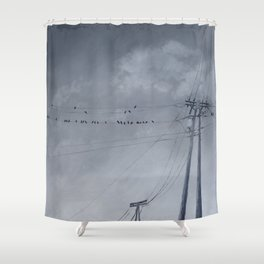 The Sky of the Man Shower Curtain