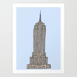 Empire State Bldg. NY Art Print
