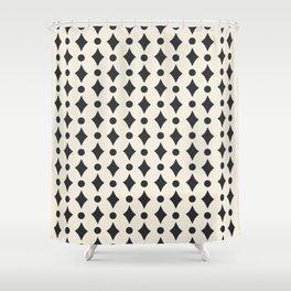 Vintage Jewels - Black Shower Curtain