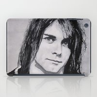 kurt cobain iPad Cases featuring Cobain Kurt Portrait. by Dioptri Art