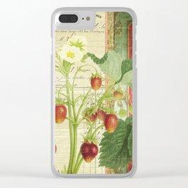 Fraises à la Crème Clear iPhone Case