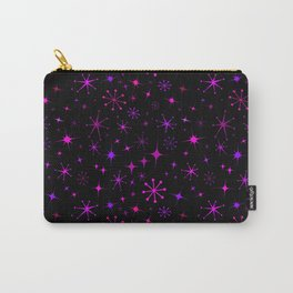 Atomic Starry Night in Neon Pink Glow Carry-All Pouch