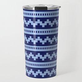 Pixel Blue Side Scroller Travel Mug