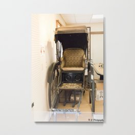 Japanese Pedicab Metal Print