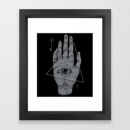 Witch Hand Framed Art Print