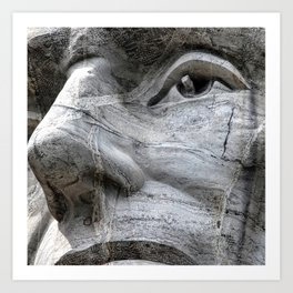 Rushmore Face of Lincoln Art Print