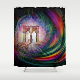 Our world is a magic - Time Tunnel 101 Shower Curtain
