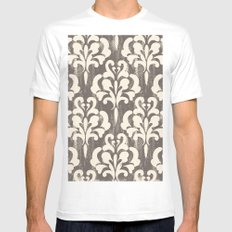 Damask1 MEDIUM White Mens Fitted Tee