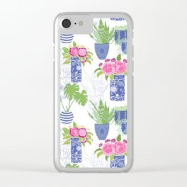 Chinoiserie Cactus Clear iPhone Case