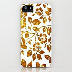 Gold flowers Slim Case iPhone (5, 5s)