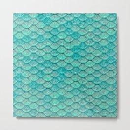 Sea Green Scales Metal Print