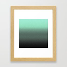mint to black ombre Framed Art Print