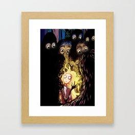 Blond Hair Framed Art Print