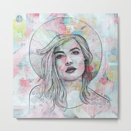 Halsey - Angel On Fire Metal Print
