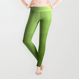 Greenery ombre gradient geometric mesh pattern Leggings