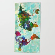 World Map - 1 Beach Towel