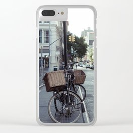 Bikes in Soho Clear iPhone Case