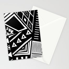 B&W Tribal Medley Stationery Cards