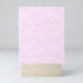 Japanese style pattern sakura flower Mini Art Print
