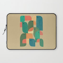 Mid-century tropical birds Laptop Sleeve