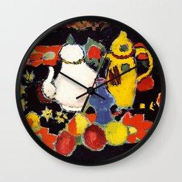 "Alexej von Jawlensky ""Still Life with Yellow Coffee Pot and White Tea Pot"" 1908 Wall Clock"