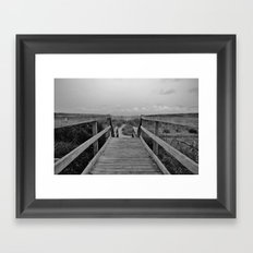 Walk To The Beach Framed Art Print
