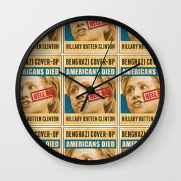 Hell No Hillary Wall Clock