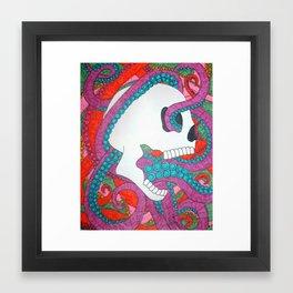 Tentacle Skull Framed Art Print