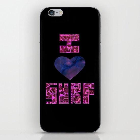 I HEART SURF iPhone & iPod Skin