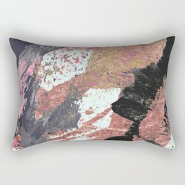 01015: colorful pink purple and gold abstract Rectangular Pillow