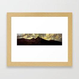 Le Riesengebirge au clair de lune  Huile sur toile (1810)  by Caspar David Friedrich 1774-1840 Framed Art Print