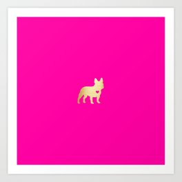 French Bulldog Gold Art Print