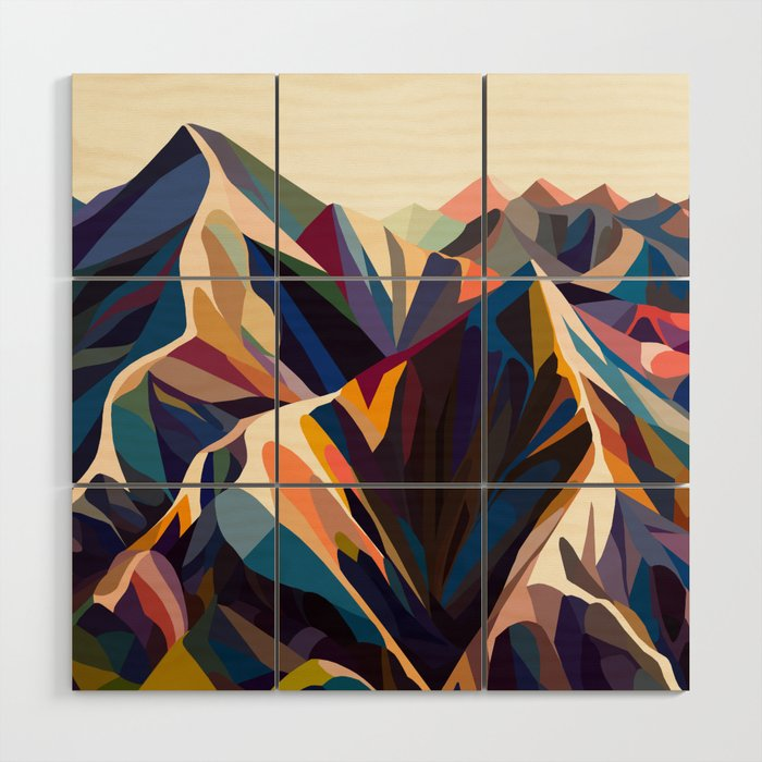 Mountains Original Wood Wall Art By Margoku