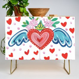 Valentine Heart with Wings Credenza