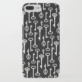 Victorian black & white Keys iPhone Case