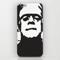 frankenstein iPhone & iPod Skins featuring Frankenstein by b & c