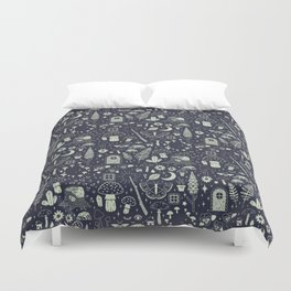 Fairy Garden: Midnight Duvet Cover
