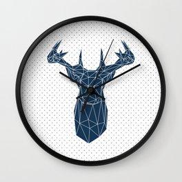 Faceted Deer Wall Clock