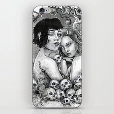 Skull Nouveau Babes iPhone & iPod Skin