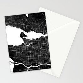 Vancouver - Minimalist City Map Stationery Cards