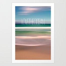 LOVE THE OCEAN II Art Print