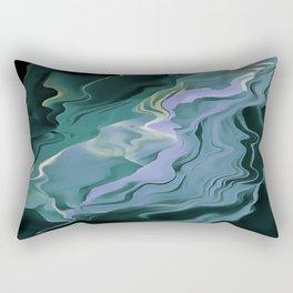 Teal Turbulence Rectangular Pillow