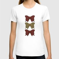 bows T-shirts featuring Vintage Purple Bows  by Ambers Illustration