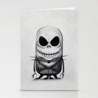 jack skellington Stationery Cards featuring Mini Jack Skellington by bimorecreative