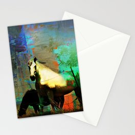 Grazing Horses in Texas Stationery Cards