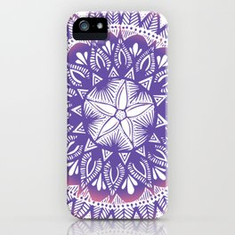 Purple-Pink Mandala iPhone Case